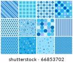 set of 12 different blue... | Shutterstock .eps vector #66853702