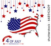 fourth of july  usa... | Shutterstock .eps vector #668542609