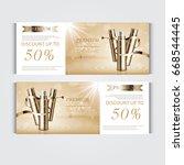 gift voucher hydrating facial... | Shutterstock .eps vector #668544445