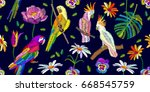 summer night colors palette.... | Shutterstock .eps vector #668545759