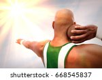 shot putter preparing to throw | Shutterstock . vector #668545837