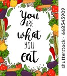 you are what you eat. vector... | Shutterstock .eps vector #668545909