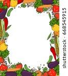 Vector Vegetables Frame....