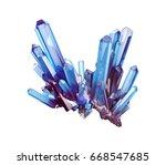 3d render  blue crystal... | Shutterstock . vector #668547685