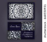 ornamental floral business... | Shutterstock .eps vector #668550931