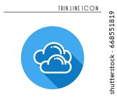 cloud  sky  line simple icon.... | Shutterstock .eps vector #668551819