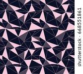 geometric line hipster seamless ... | Shutterstock .eps vector #668551861