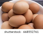 close up fresh hen gee in white ... | Shutterstock . vector #668552761