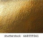 vector golden foil background... | Shutterstock .eps vector #668559361