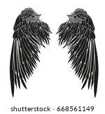 wings. vector illustration on...   Shutterstock .eps vector #668561149