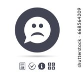 sad face sign icon. sadness... | Shutterstock . vector #668564209