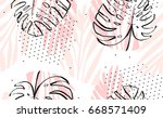 hand drawn vector abstract... | Shutterstock .eps vector #668571409