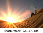 quad biking | Shutterstock . vector #668573185