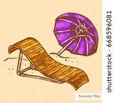vector linear illustration of... | Shutterstock .eps vector #668596081