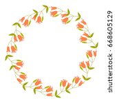 round decorative frame with...   Shutterstock .eps vector #668605129
