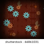 arabesque background with flowers - stock photo