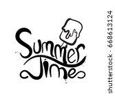 summer fun typography. summer...   Shutterstock .eps vector #668613124