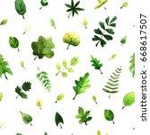 watercolor seamless pattern... | Shutterstock . vector #668617507