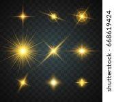 golden glowing light | Shutterstock .eps vector #668619424