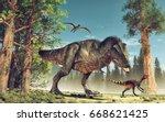 3d render dinosaur. this is a...   Shutterstock . vector #668621425
