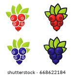 cartoon currant set | Shutterstock .eps vector #668622184