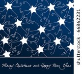 beautiful christmas stars... | Shutterstock . vector #66862231