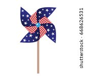 vector illustration of pinwheel ... | Shutterstock .eps vector #668626531