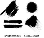 grunge design elements . brush... | Shutterstock .eps vector #668633005