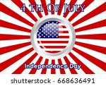 united stated independence day... | Shutterstock .eps vector #668636491