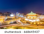 xi'an   the starting point of... | Shutterstock . vector #668645437