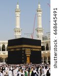 mecca   july 10   crowd of... | Shutterstock . vector #668645491