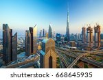 dubai  united arab emirates... | Shutterstock . vector #668645935