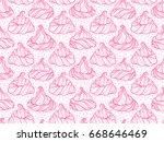 french meringue cookies... | Shutterstock .eps vector #668646469