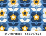 seamless retro pattern with...   Shutterstock .eps vector #668647615