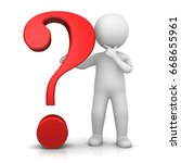 question mark red 3d rendering... | Shutterstock . vector #668655961