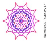 mandala. creative anti stress... | Shutterstock .eps vector #668659717