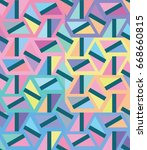 vector color pattern. geometric ... | Shutterstock .eps vector #668660815