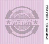 between love and hate retro... | Shutterstock .eps vector #668661061