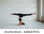 upside down  stretching....   Shutterstock . vector #668665921