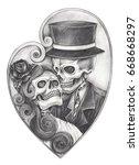 Skull In Love Day Of The Dead ...