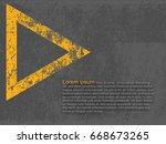 abstract background  cement and ... | Shutterstock .eps vector #668673265