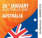 independence day of australia.... | Shutterstock .eps vector #668682241