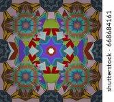 abstract vector seamless... | Shutterstock .eps vector #668684161