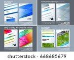 set of business vector template ...   Shutterstock .eps vector #668685679