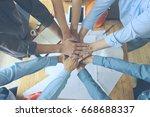 work group of gngineer  people... | Shutterstock . vector #668688337