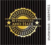 between love and hate gold... | Shutterstock .eps vector #668694511