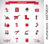 garden icon set | Shutterstock .eps vector #668708239