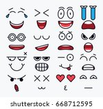 smile constructor  different... | Shutterstock .eps vector #668712595
