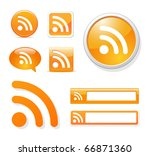 rss icons in different styles...