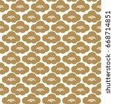 japanese pattern seamless. gold ... | Shutterstock .eps vector #668714851